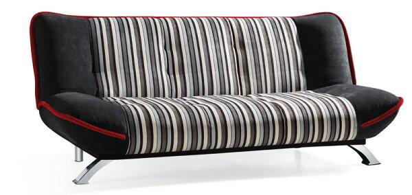 !新生活家具!《華莉絲》藍條紋沙發床三人位沙發布沙發棉絨布三段調節可拆洗簡約現代兩色