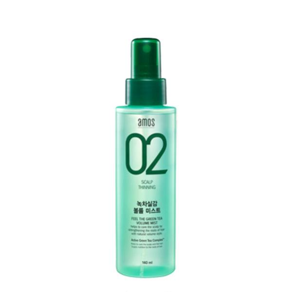 韓國AMOS02綠茶豐盈護髮蓬鬆噴霧140ml綠茶蓬鬆劑頭髮蓬鬆噴霧