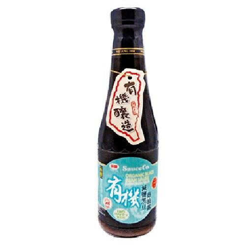 味榮 極釀級有機黑豆減鹽蔭油露 320ml/瓶