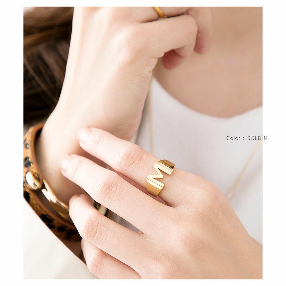 日本CREAM DOT  /  リング 指輪 レディース 15号 ワイドリング ファッションリング イニシャル ヘアライン加工 大人カジュアル シンプル 可愛い ゴールド シルバー  /  a03578  /  日本必買 日本樂天直送(1290) 6