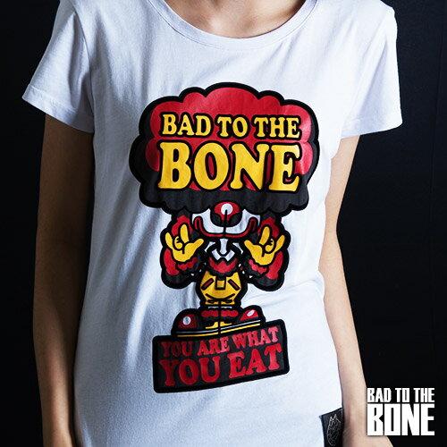 漢堡小丑黑貴賓 T【女款/白】BURGER CLOWN POODLE by Bad To The Bone
