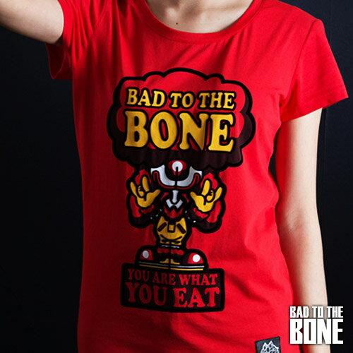 漢堡小丑黑貴賓 T【女款/紅】BURGER CLOWN POODLE by Bad To The Bone