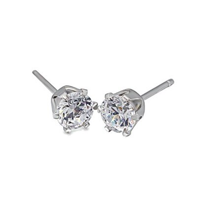 925純銀耳環鑲鑽耳飾~精緻小巧耀眼迷人母親節生日情人節 女飾品73dm155~ ~~米蘭