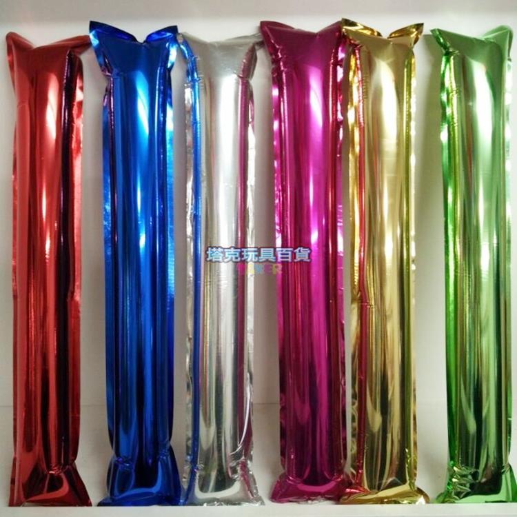 鋁箔 充氣棒 氣球 加油棒 棒球 充氣棒 (2支/12元) 螢光棒 LED 廣告 行銷 禮贈品 客製化【塔克】