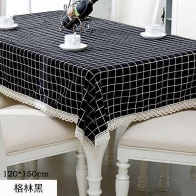 【PVC花邊臺布-120*150cm-1款組】歐式餐桌佈防水油燙免洗軟塑膠桌墊(可定制)-7101001