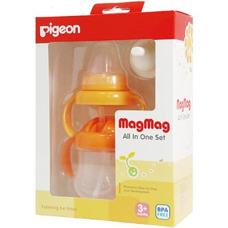 Pigeon貝親 - 莫哭杯禮盒 (橘)