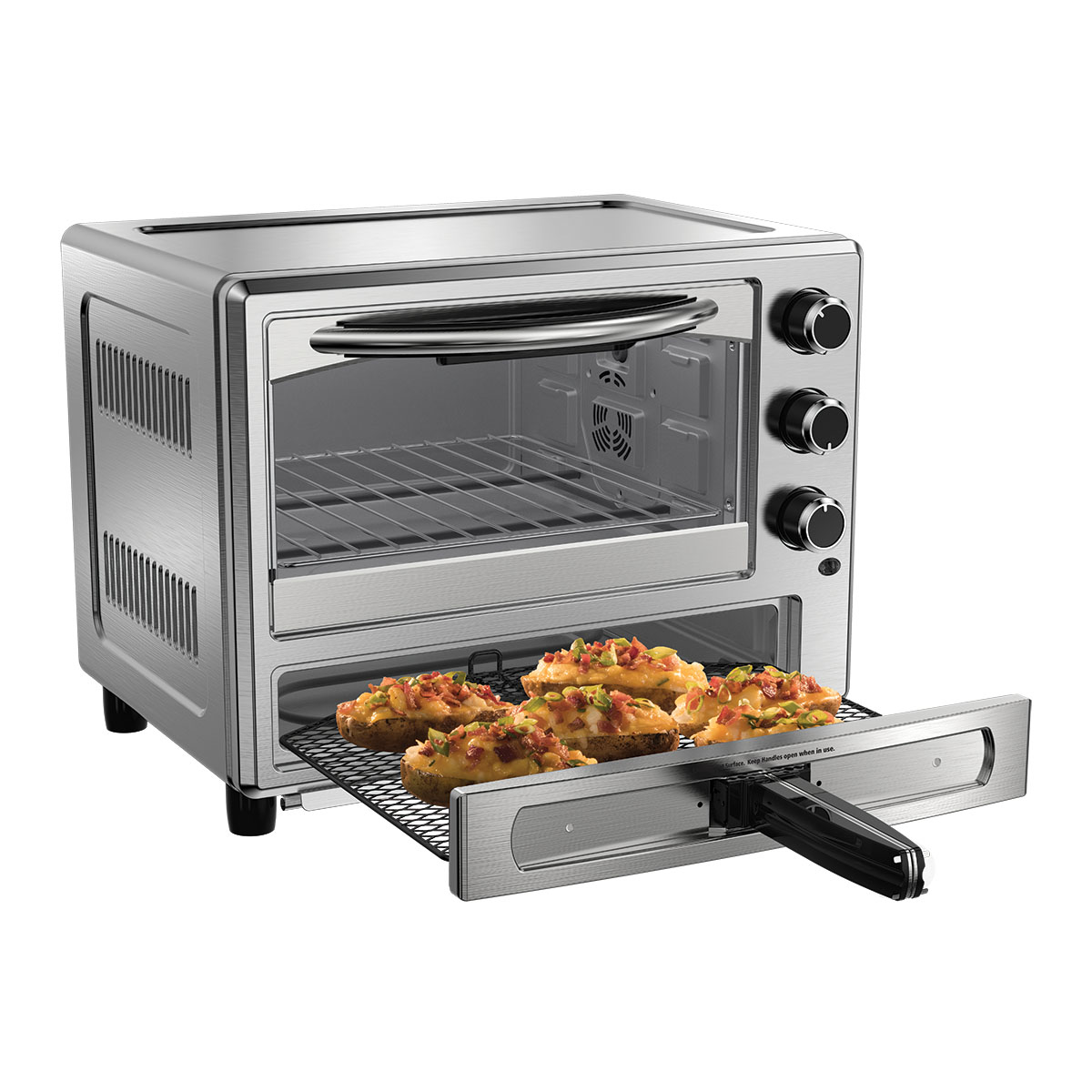 Oster Stainless Steel Convection Oven with Pizza Drawer TSSTTVPZDS 1
