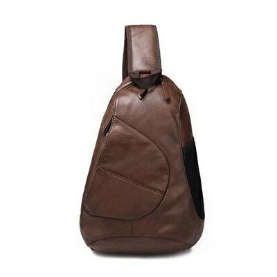 胸包皮革肩背包-歐美街頭休閒復古男包包2色73rv16【獨家進口】【米蘭精品】