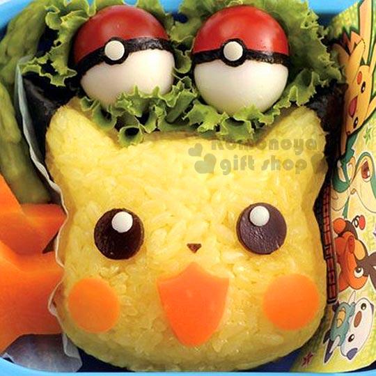 〔小禮堂〕神奇寶貝Pokemon 皮卡丘 造型飯糰壓模《黃.大臉》創意便當輕鬆做