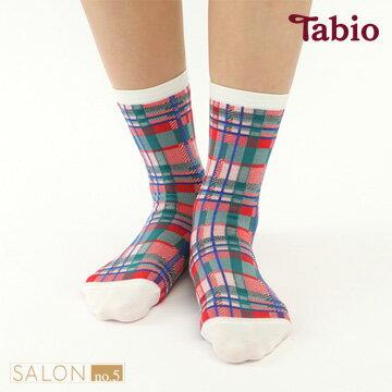 【靴下屋Tabio】經典格紋棉中筒短襪日本職人手做