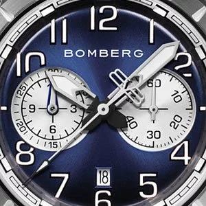 ▶︎BOMBERG炸彈錶◀︎BB-68 系列 全鋼深藍色面鏈帶計時碼錶/44mm