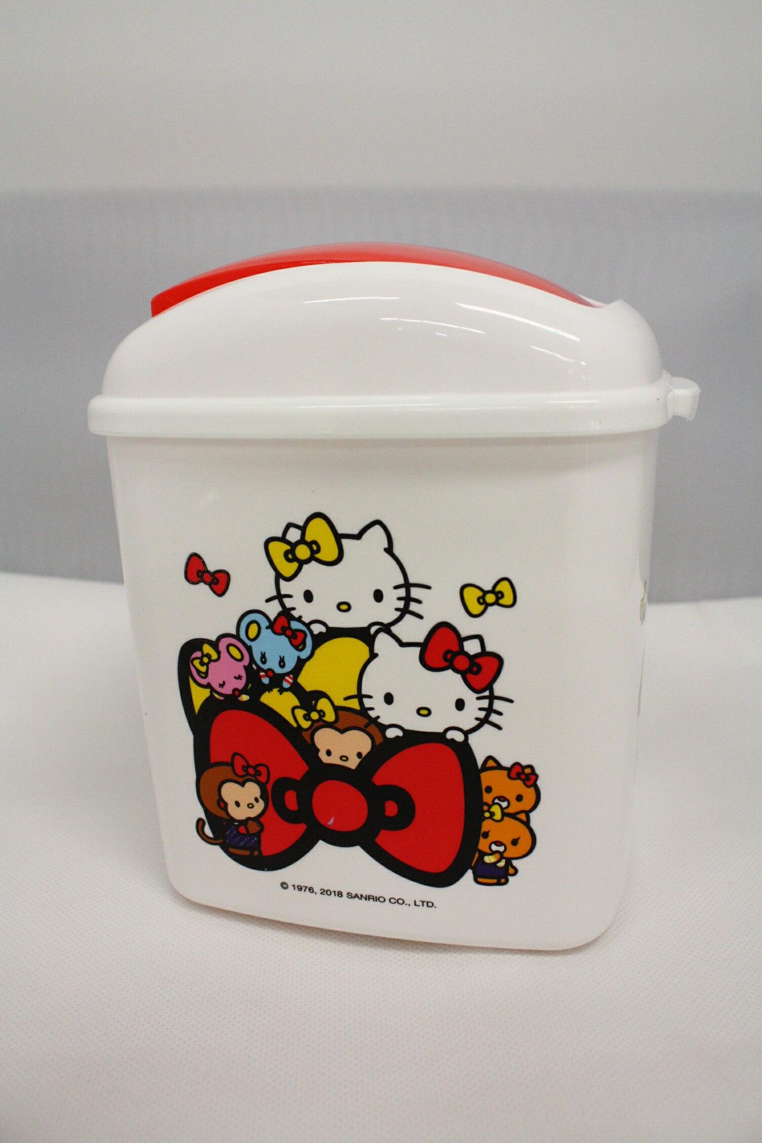大賀屋 hello kitty 垃圾桶 置物桶 收納桶 方型 車用 垃圾筒 凱蒂貓 三麗鷗 正版授權 T00120225