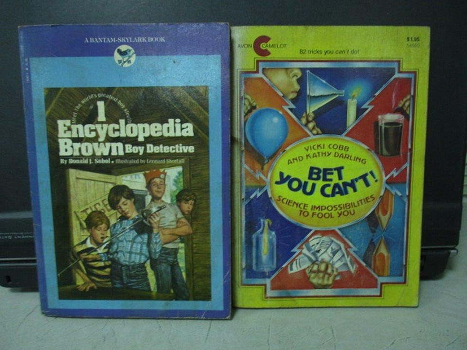 【書寶二手書T3/原文小說_LDF】Bet you cant!_I Encyclopedia_共2本合售