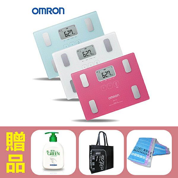 【歐姆龍OMRON】體重體脂計HBF-216,贈品:GREEN潔手乳x1+提袋x1+康諾純棉運動毛巾x1