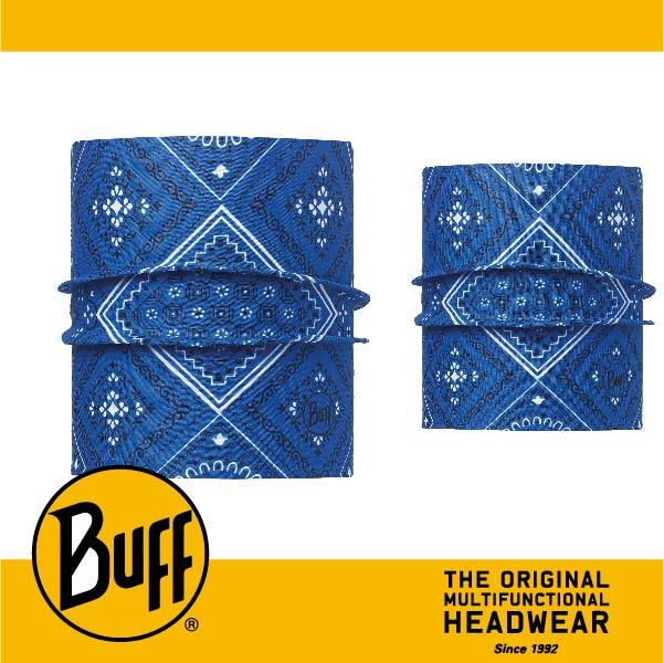 BUFF 西班牙魔術頭巾 寵物頭巾系列 BF113119-707-25 寵物經典頭巾 M/L 旅人藍紋 萬特戶外運動