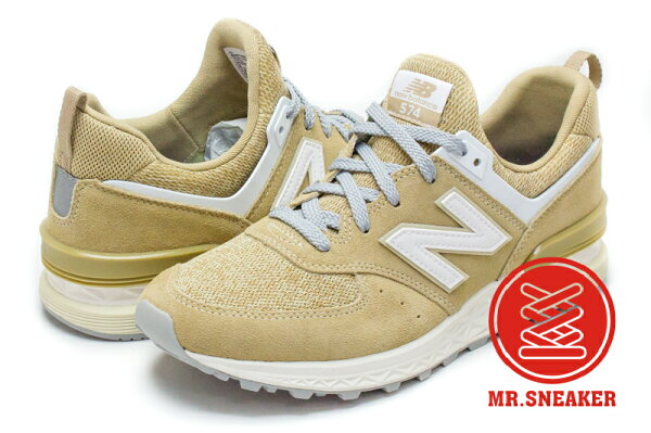 ☆Mr.Sneaker☆NEWBALANCEMS574-BSFreshFoam緩震科技駝色男段