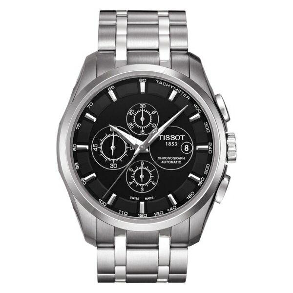 TISSOT天梭T0356271105100 建構師機械計時腕錶/黑面43mm