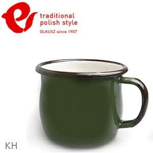 Emalia Olkusz 波蘭百年琺瑯杯/牛奶杯/琺瑯馬克杯350ml TPS 卡綠 KH