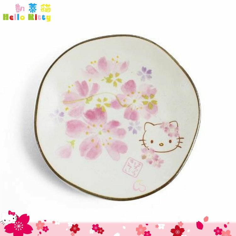 日本製 三麗鷗 凱蒂貓 Hello Kitty 櫻花美濃燒小盤 盤子 小碟子 日本進口正版 984048