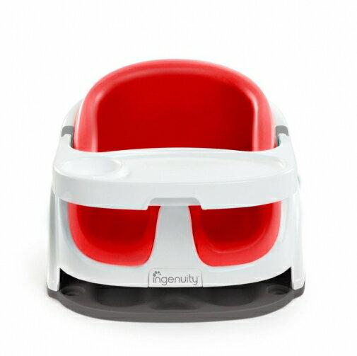 【淘氣寶寶】KidsII2合1寶寶椅幫寶椅餐椅-胭脂紅【保證原廠公司貨】