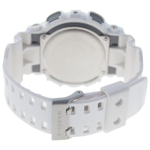 Casio G-Shock Analog Digital Grey Dial White Mens Watch GA100A-7A 1