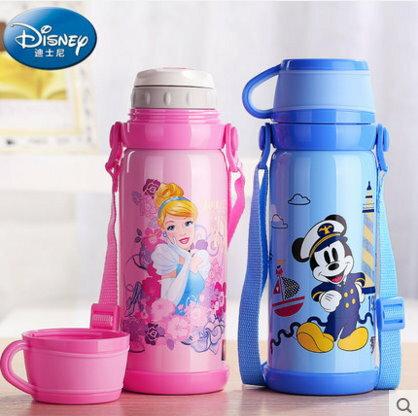 新款Disney 迪士尼 不鏽鋼兒童保溫杯男女大容量杯子水壺800ML-5764