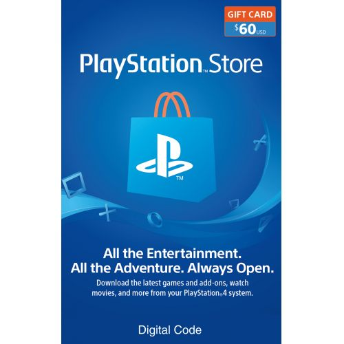 $60 PlayStation Store Gift Card Email Delivery