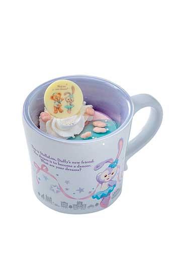 X射線【C301005】日本東京迪士尼代購-史黛拉 Stella Lou 小馬克杯,陶瓷杯/水杯/玻璃杯/茶杯/咖啡杯/兔子芭蕾