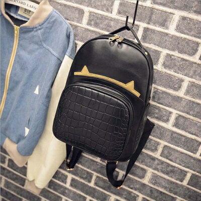 後背包鱷魚紋雙肩包-韓版學生時尚流行女包包2款73fd53【獨家進口】【米蘭精品】