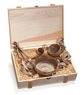 ├登山樂┤芬蘭KUPILKA松木餐具豪華組(木盒包裝)-原木色#30PR0311