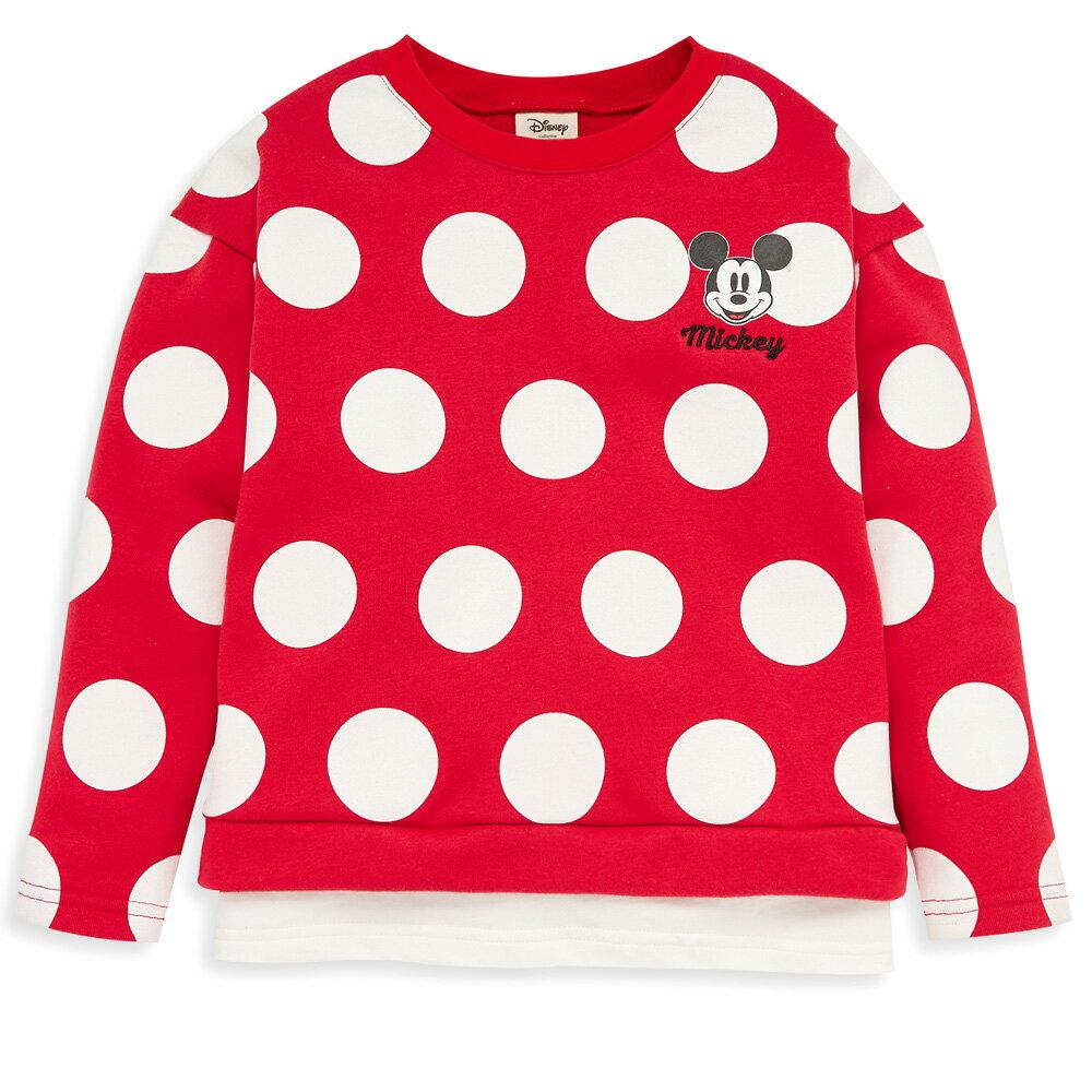 Disney 米奇系列俏皮米奇刷毛上衣-紅色 - 限時優惠好康折扣
