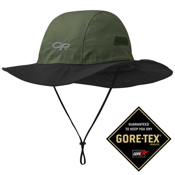 【Outdoor Research 美國】Seattle Sombrero GTX 防水圓盤帽 Gore-Tex 登山帽 防曬帽 遮陽帽 綠/黑色 (243505-1211)
