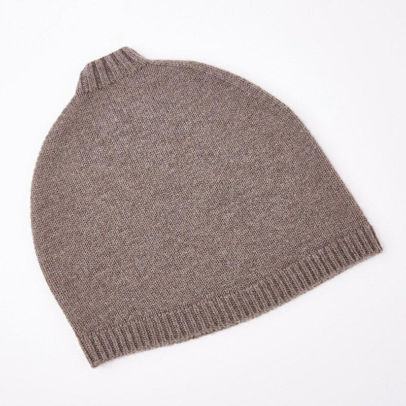 毛帽羊毛針織帽-純色捲邊護耳套頭男帽子4色73wj33【獨家進口】【米蘭精品】 2