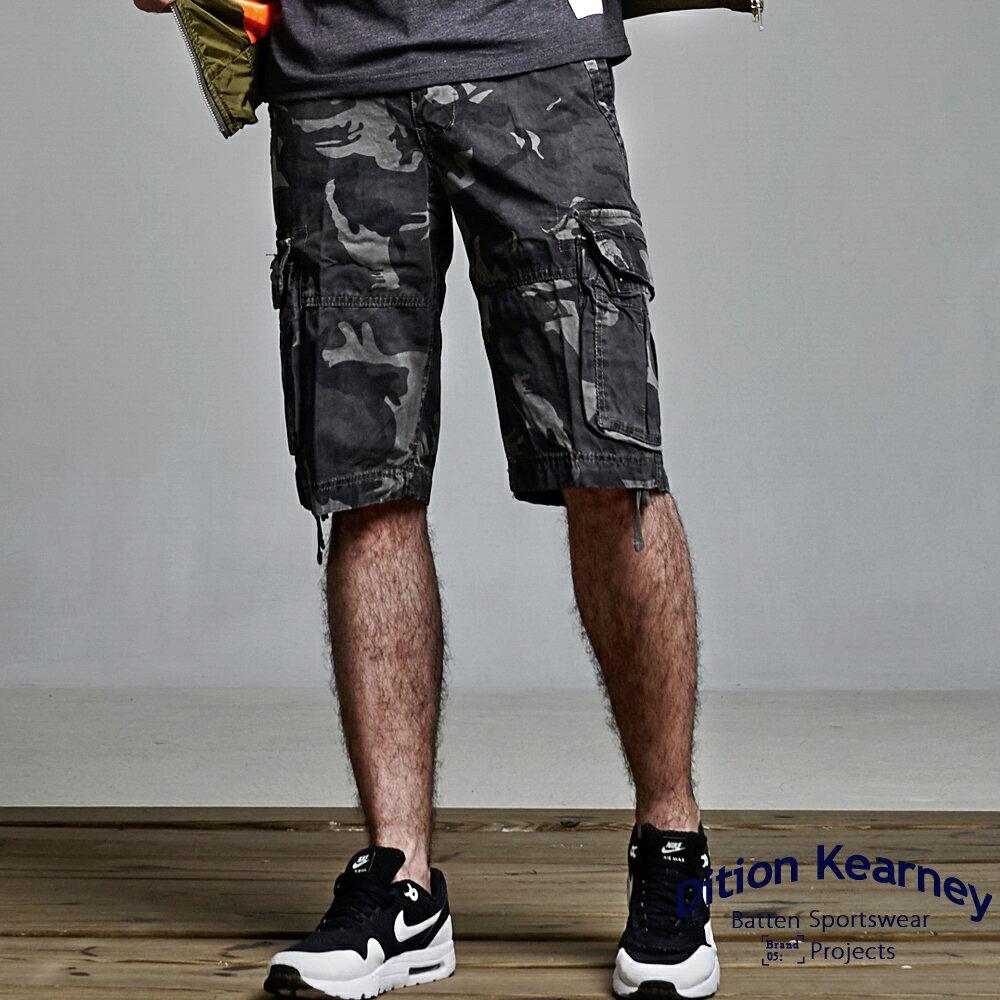 DITION SHOP 軍裝迷彩OUTER多口袋短褲 機能抽繩 美式AE風 0