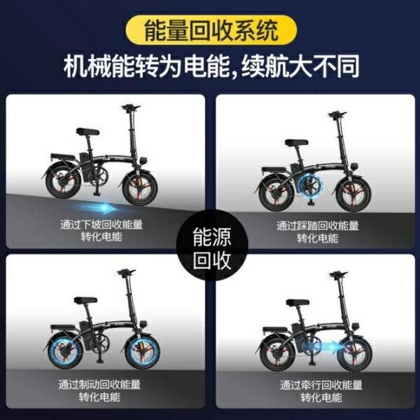 2021搶先款 現貨 折疊電動車成人輕便小型可攜式代駕雙人新款電動自行車代步電單車 YYS