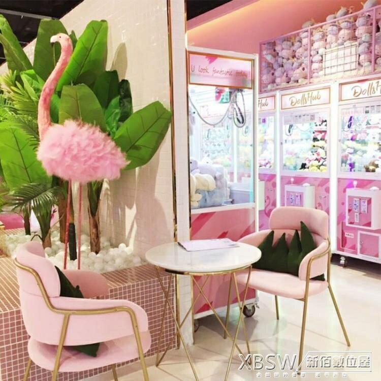 沙發卡座組咖啡廳甜品店水吧餐廳桌椅組合粉色靠背椅可定制CY『新佰數位屋』 全館限時8.5折特惠!