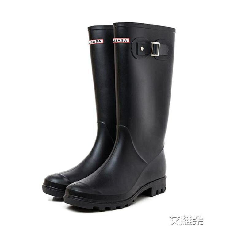 長筒雨靴 可愛簡約雨鞋女士韓版時尚水鞋高筒雨靴成人長筒水靴防滑膠鞋 交換禮物 全館限時8.5折特惠!