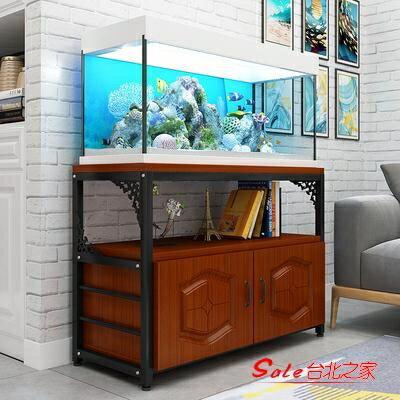 魚缸架 鋼木歐式魚缸底櫃金屬底座底架不銹鋼草缸魚缸架子水族箱底櫃定做T 全館限時8.5折特惠!
