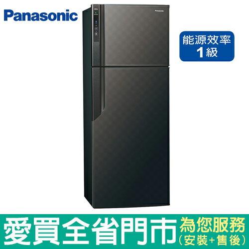 Panasonic國際485L雙門變頻冰箱NR-B489GV-K(星空黑)含配送到府+標準安裝【愛買】