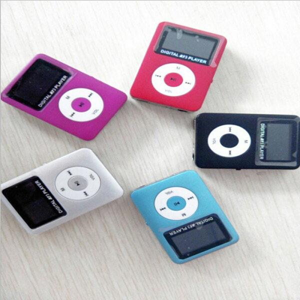 糖衣子輕鬆購【BA0217】三代機MP3胖蘋果隨身聽有屏插卡音樂播放機