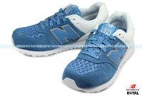 New Balance 美國慢跑鞋/跑步鞋推薦New Balance 574 藍/白 麂皮 皮質 網布 輕量 慢跑鞋 NO.R0354