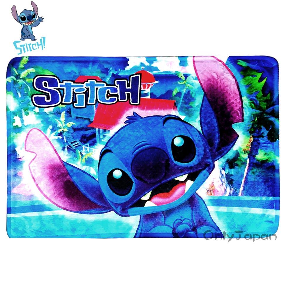 【真愛日本】18022700012 絨毛地墊-史迪奇微笑 迪士尼 星際寶貝 史迪奇 吸水地墊 地毯 腳踏墊 居家