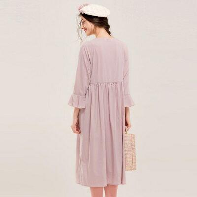 休閒套裝喇叭袖長袖上衣(兩件套)-浪漫唯美寬鬆舒適女裙裝73lk36【正韓進口】【米蘭精品】