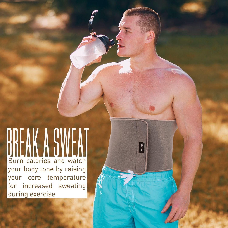 47ce36500 INNOKA 2-Pack Fat Burning Waist Trimmer Gym Running Workout Exercise Wrap  Belt Shapewear Sweat