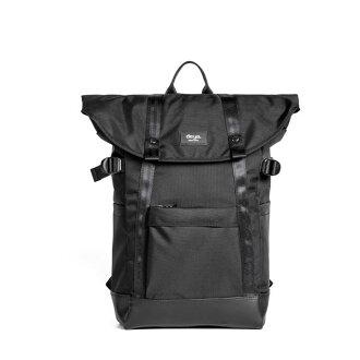 後背包 / deya -率真折蓋後背包-質感黑 524012