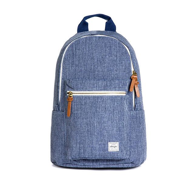後背包 / deya-單寧風潮後背包-藍色 立體剪裁 牛仔布紋 迷彩撞色 - 限時優惠好康折扣