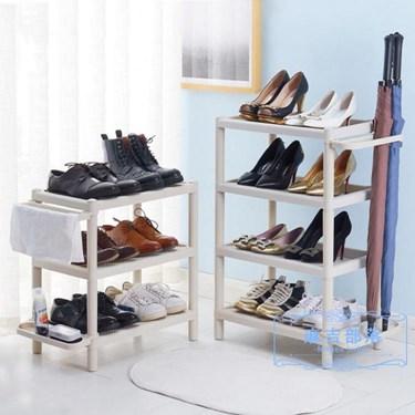 鞋架 多層簡易鞋架子防塵家用宿舍門口塑料組裝現代簡約客廳浴室拖鞋架 樂活 全館八八折
