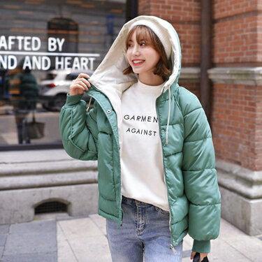 棉衣外套少女冬裝2019新款初中高中學生韓版寬鬆休閒短款羽絨棉服 全館八八折