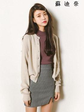 針織外套女 冰絲短款毛衣防曬衫薄款秋季外套 全館八八折