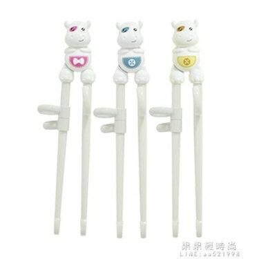 oright兒童訓練筷寶寶筷子一段寶寶學吃飯輔助練習筷卡通餐具套裝 全館八八折